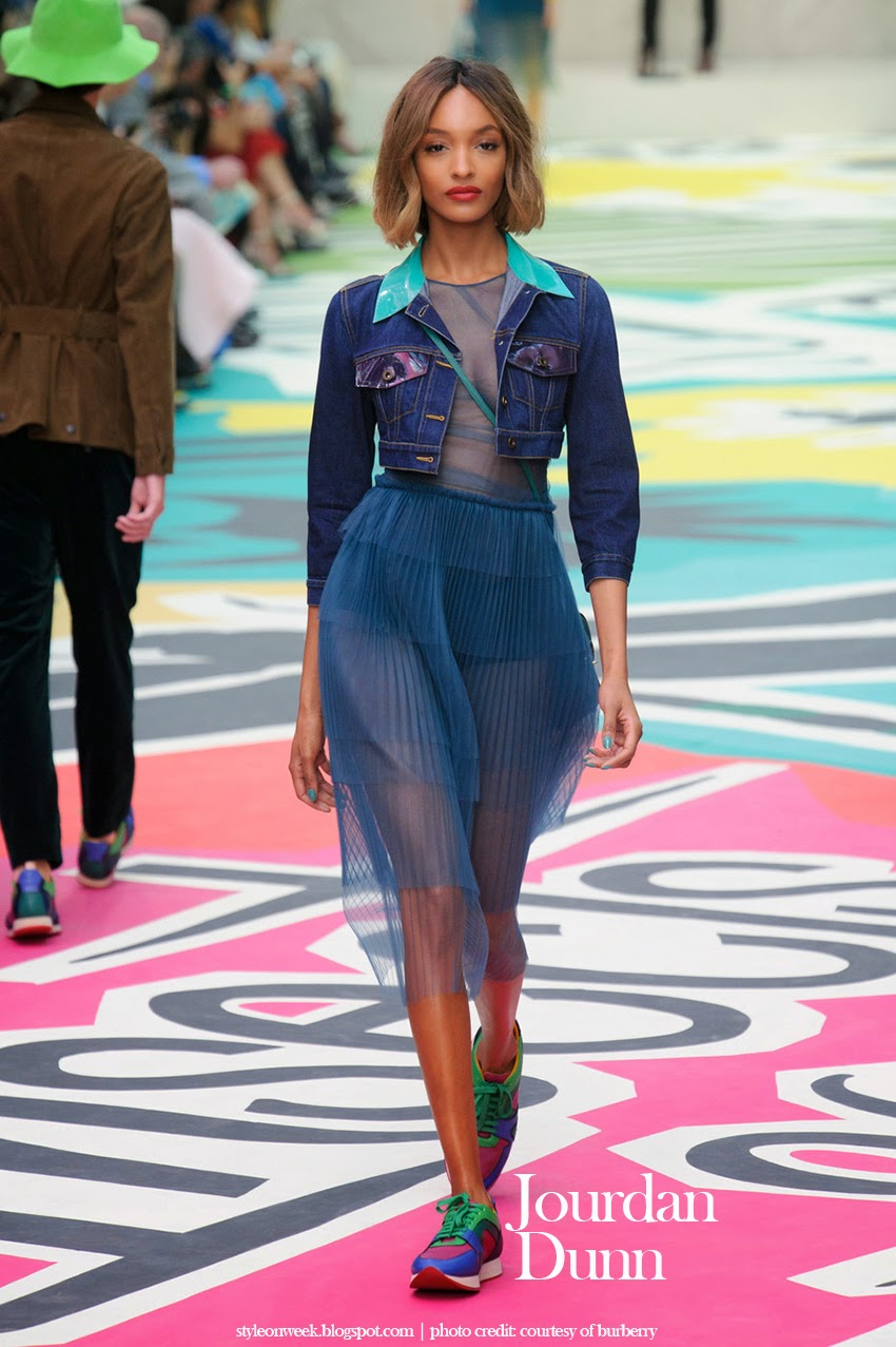 Jourdan Dunn at Burberry Prorsum Womenswear Spring-Summer 2015 Collection Look
