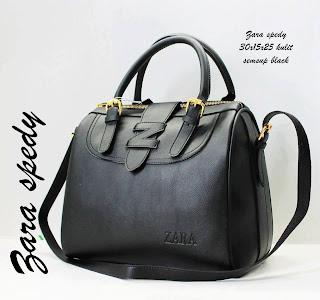 Tas Zara Terbaru Tas Zara Spedy Semi Super hitam