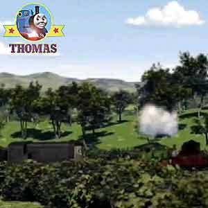Wheel turn Thomas &amp; friends Percy the tank engine push the Island of Sodor fair calliope organ