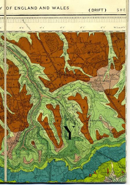 Panel from sheet 286 Reigate (Drift ) 1:63,360 map. 1938.