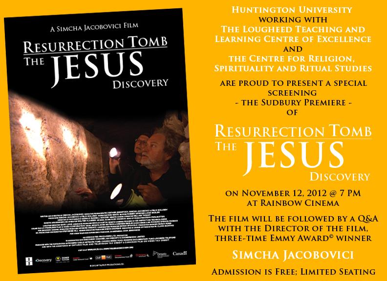 O Sepulcro Esquecido de Jesus Novas Evidências HDTV Dublado Simcha at Huntington