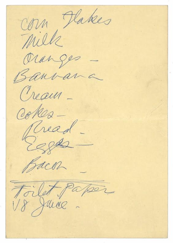open grocery list