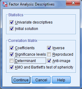factor descriptive