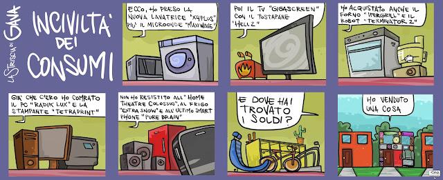 Gava Satira gavavenezia gavavenezia.it Consumismo Pubblico Yanez
