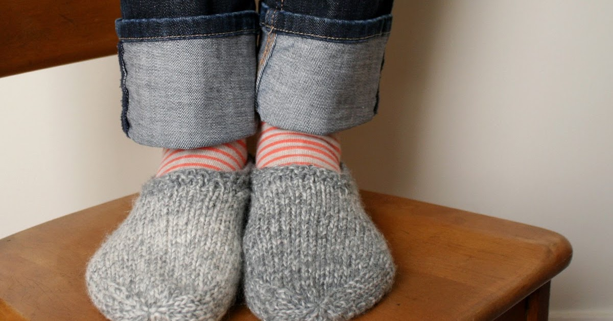 Knitting Pattern For Long Slippers : sam lamb: south marysburgh slippers