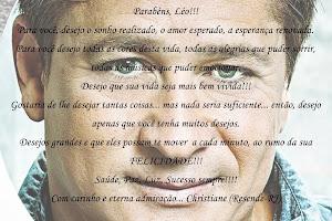 Mensagem para aniversario do Léo fã clube Blog FLOR DO MEU SERTÃO 2013