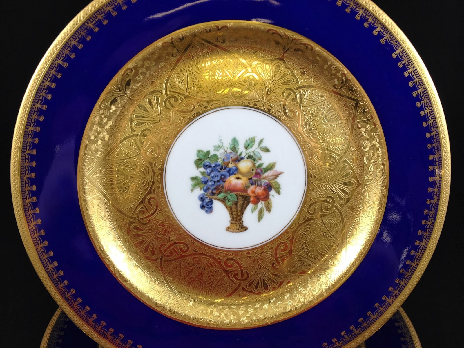 Antique China Hutschenreuther Dinner Plates & Antique China