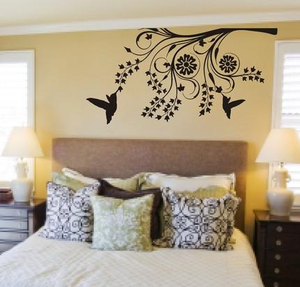 Artesanais cia adesivos em quartos de casais for Papel para paredes baratos