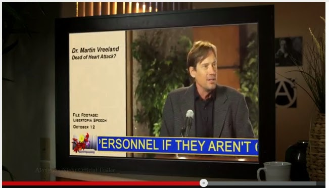 "Actor Kevin Sorbo plays economist Dr. Martin Vreeland in the film, ""Alongside Night"""