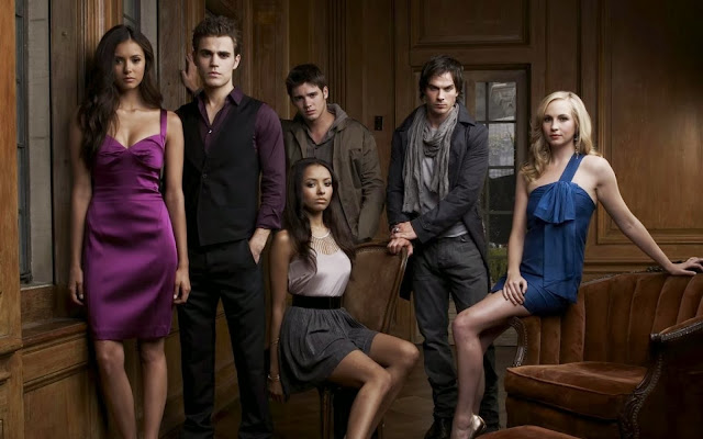 Elina - Caroline- Bonnie - Stefan - Demon - The Vampire Diaries