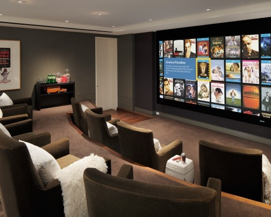 Dep sito santa mariah home theater para reunir amigos - Best paint color for home theater ...