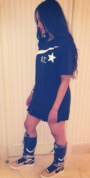 Ciara New Nike AF1 RT and Givenchy Fashion Photo