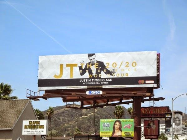 Justin Timberlake 2020 Experience World Tour billboard