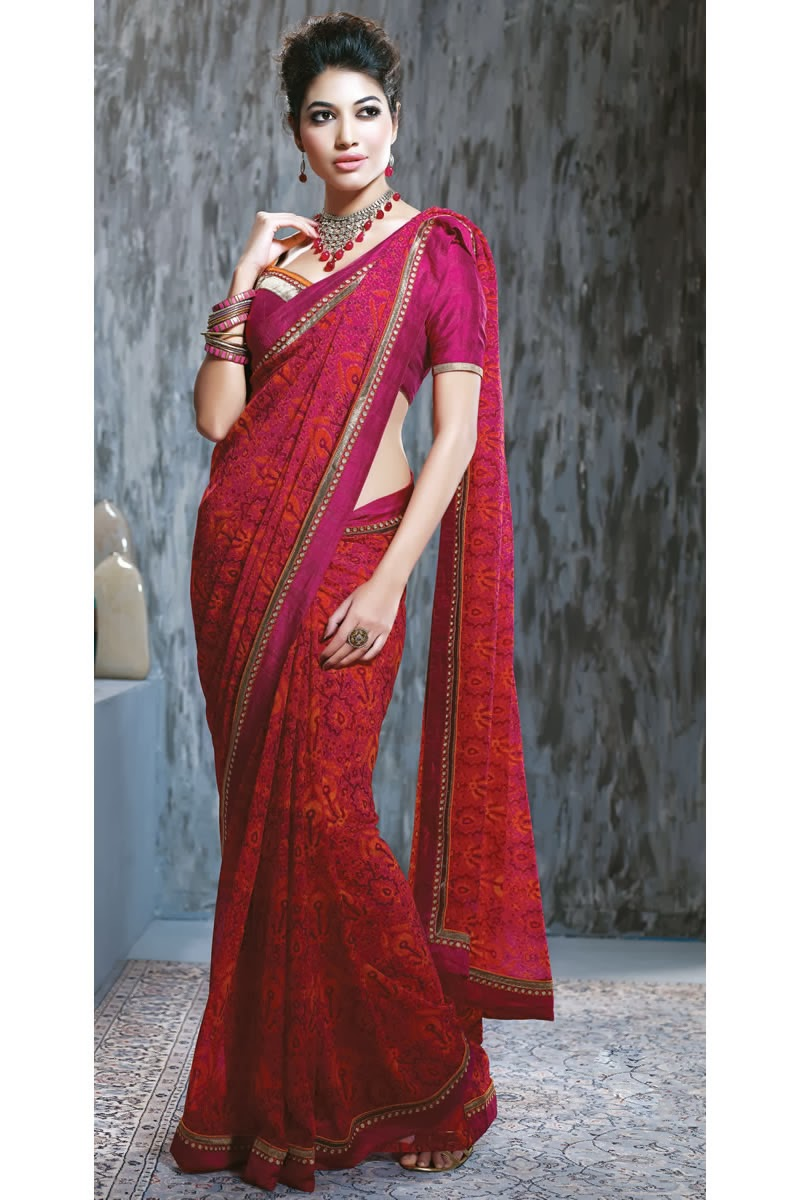 http://www.skysarees.com/woman/Sarees/Casual-Printed-Sarees/Red-Georgette-Fabric-Casual-Party-Wear-Saree-15136.html