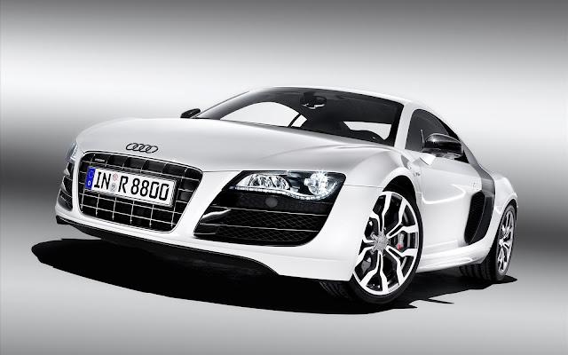 White Cars - Audi R8