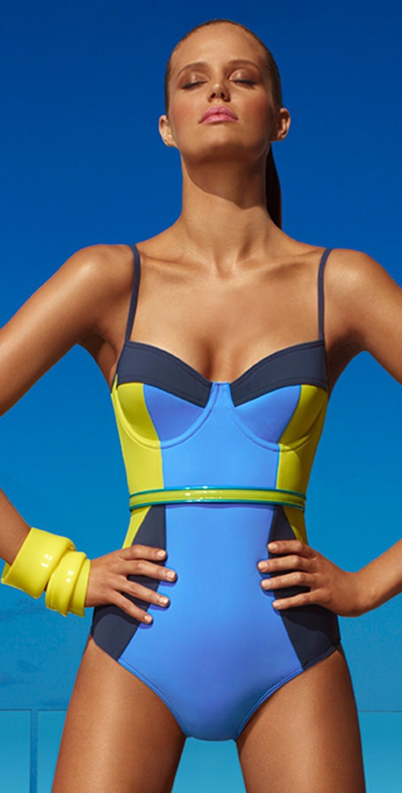 Swimsuit and Swimwear Trends: One – Piece Bathing Suits Are Back. Show off just the right amount of skin this season in a once piece style that's sure to turn heads.