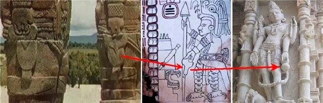 Идентичность изображений древних ольмеков Америки и Индии, одинаковые предметы, боги, пришельцы, анунаки