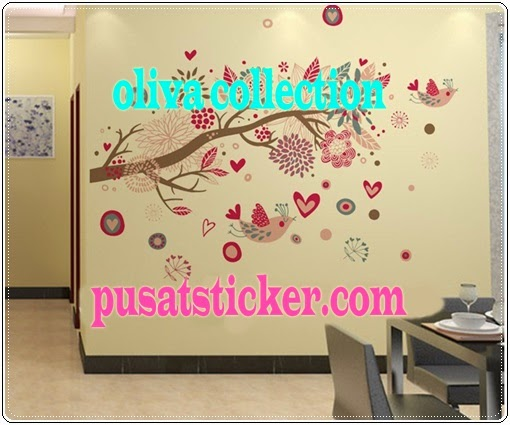 jual wall sticker model bohemia flowers - olivacollection