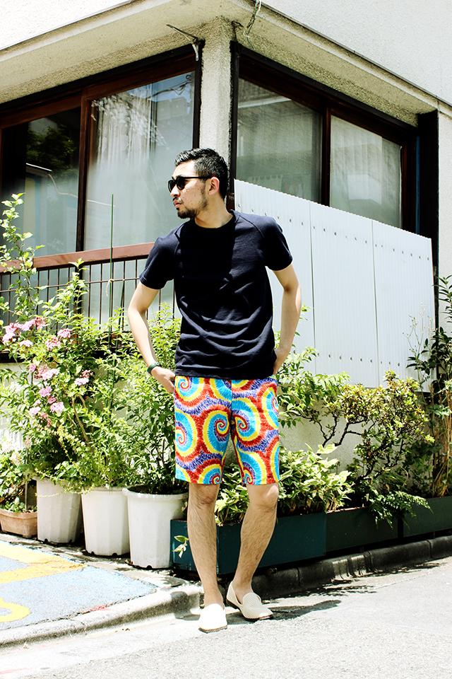 "Gitman Vintage ""Rainbow Spiral"" Short Pants size 32 26,784yen"