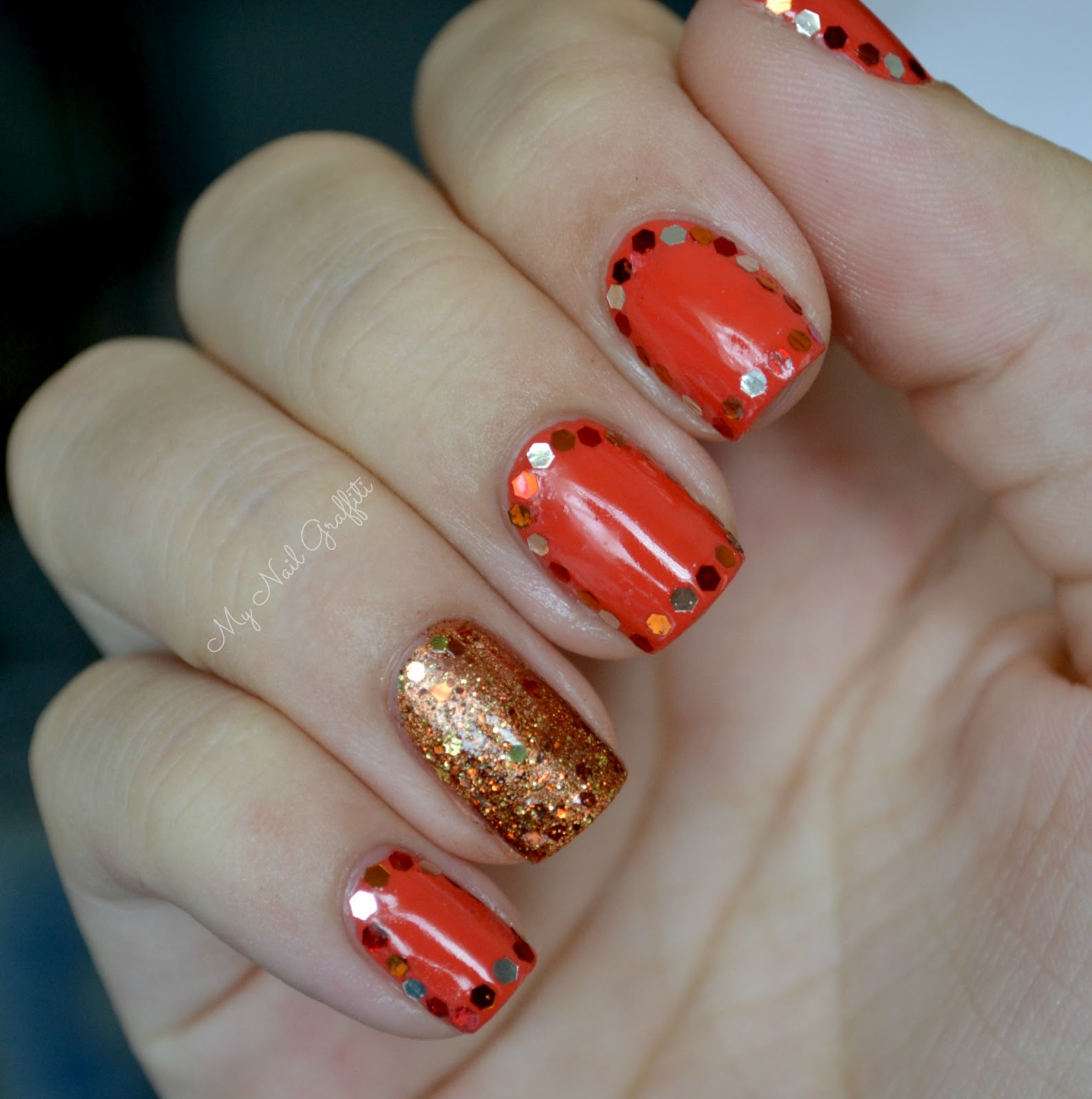 Gorgeous Autumn Inspired Nails: My Nail Graffiti: Fall Inspired Glequins