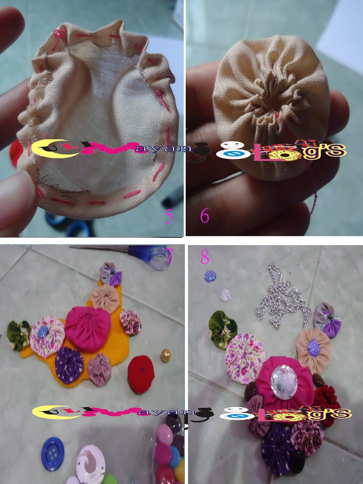 uli mayang: DIY: yoyo necklace / kalung yoyo kain perca