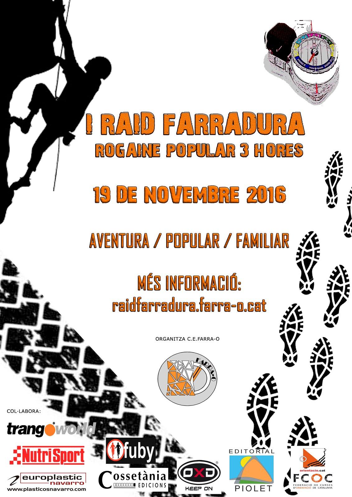 19 DE NOVEMBRE - I RAID FARRADURA - ROGAINE POPULAR