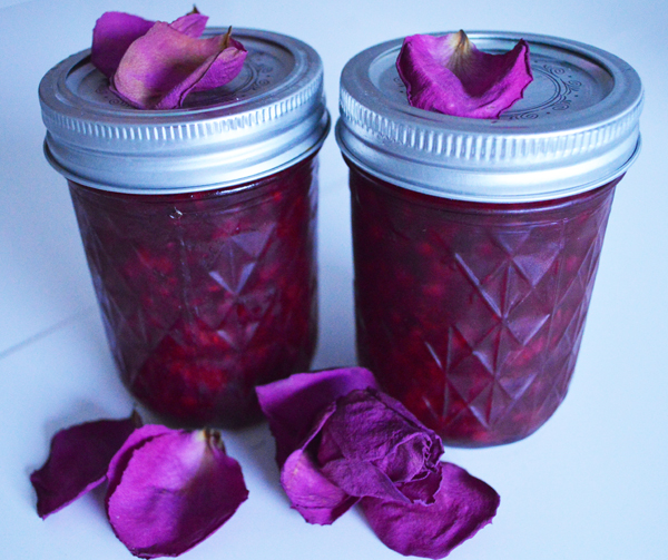 redcurrant, raspberry & rose jam