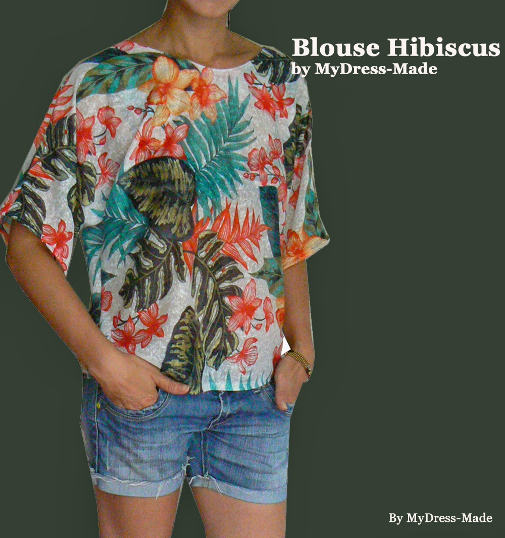 Blouse Hibiscus by MDM
