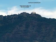 Zoom al Santuari de Bellmunt des de la zona de la masia Targarona