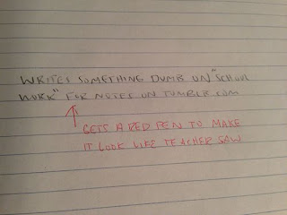 lol funny quote written on page