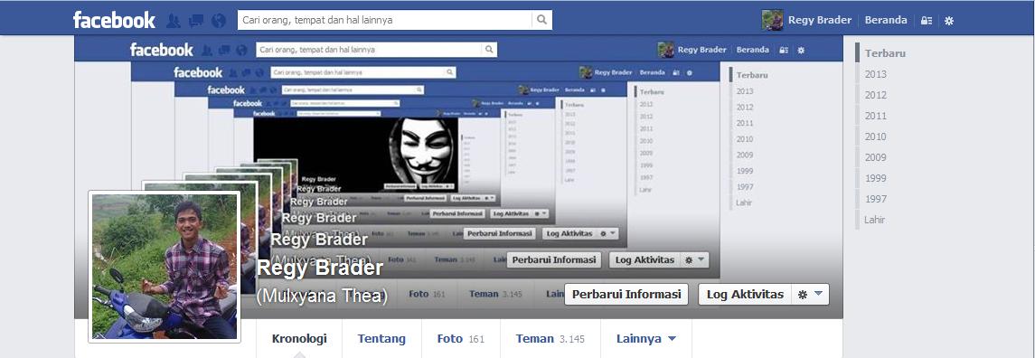 Foto Sampul Facebook Dengan Efek Menjauh