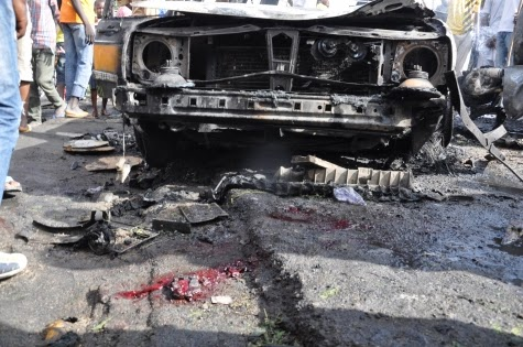 Photos: Scene of today's bomb blast in Maiduguri market6
