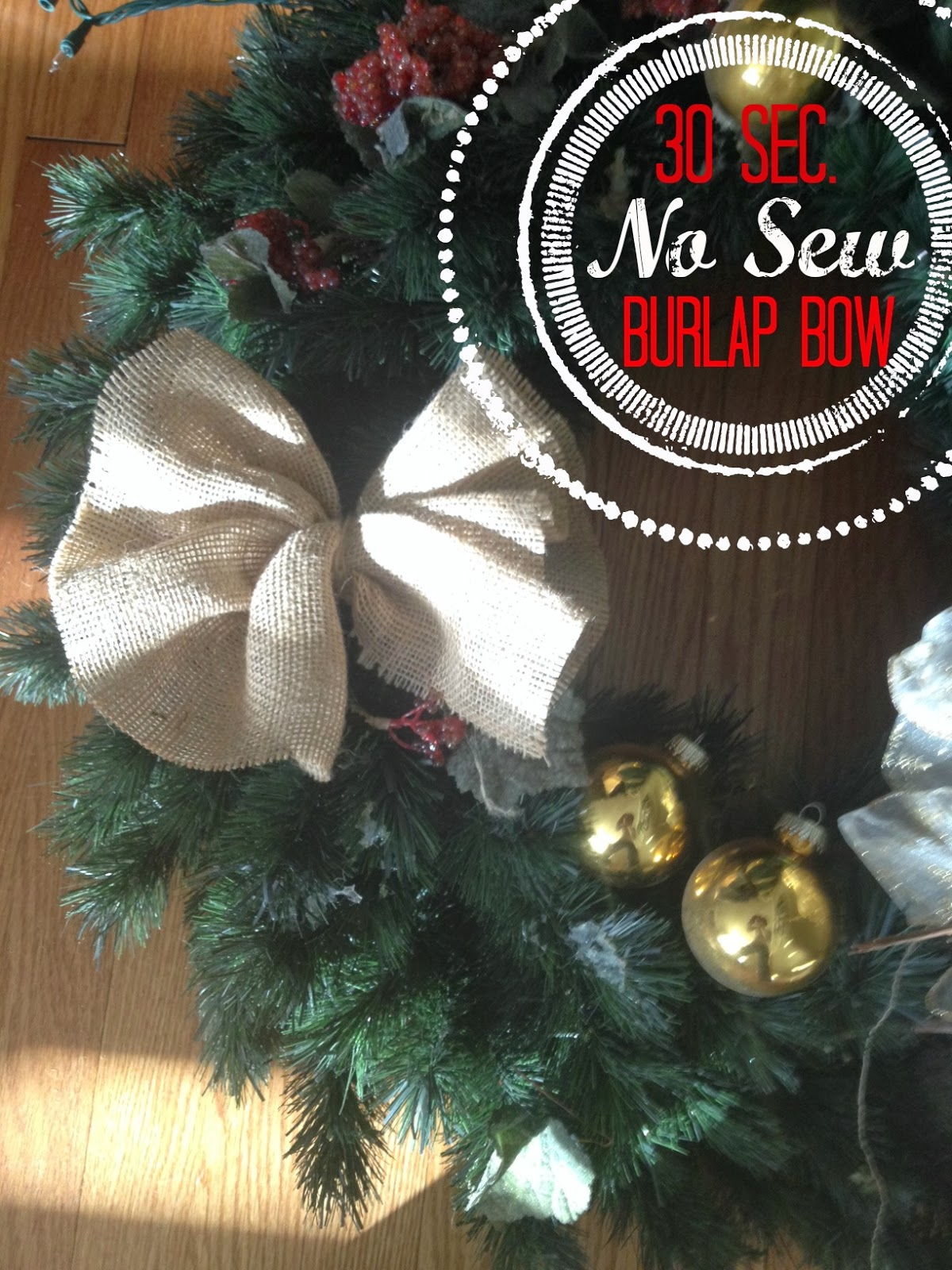 Two it yourself how to make a no sew burlap bow in 30 seconds or less solutioingenieria