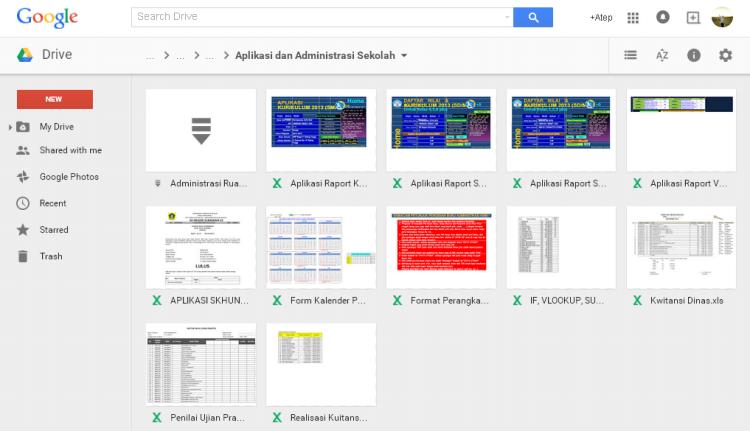 Download Aplikasi dan Administrasi Sekolah di Google Drive