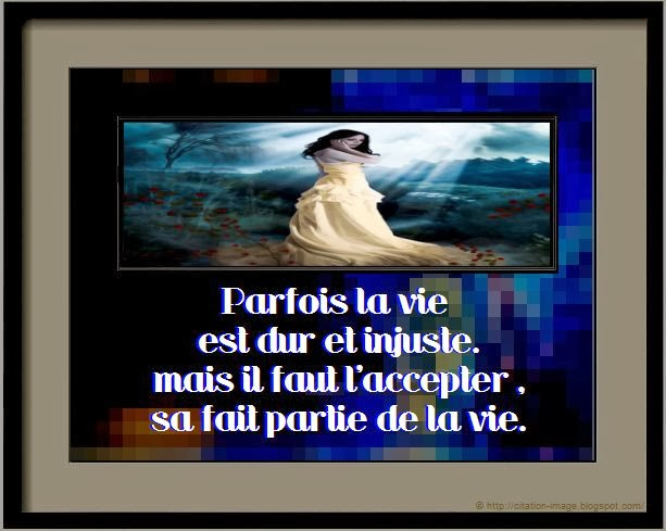 Citation sur la vie injuste en image