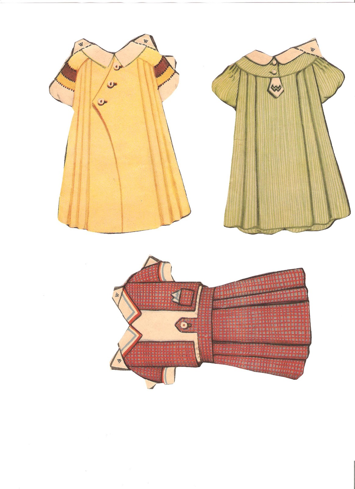 Miss Missy Paper Dolls: random paper doll items
