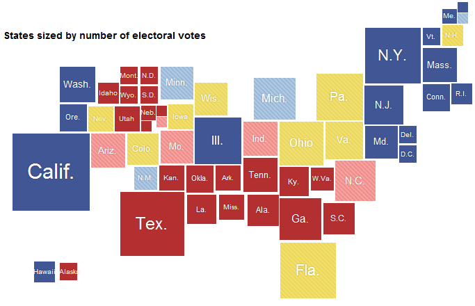 Qlik Tips Good Geographic Charting - Us map number of electoral votes