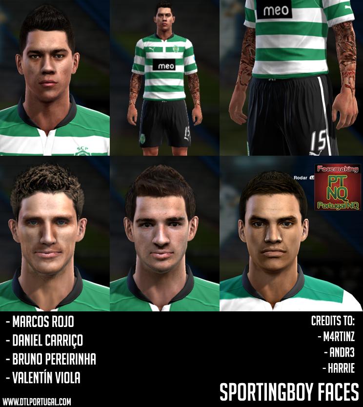 Sporting Facepack | 4 Faces - PES 2013