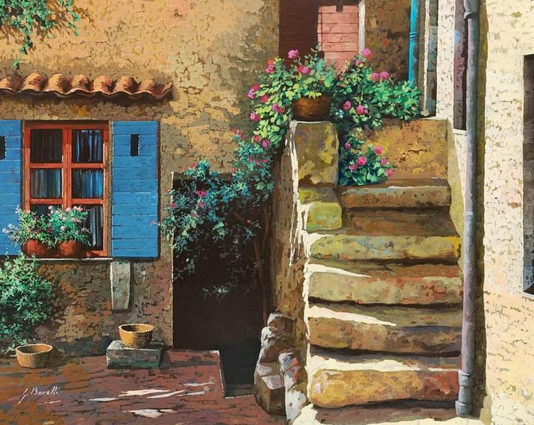 Pintura moderna y fotograf a art stica cuadros de for Casas modernas con puertas antiguas