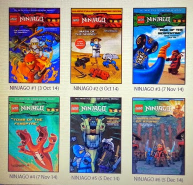 LEGO Ninjago Graphic Novel volumes 1-6