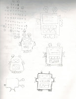 sketches of robots