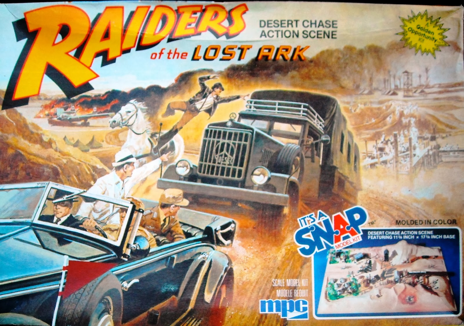 Model kit of the week raiders of the lost ark desert chase action