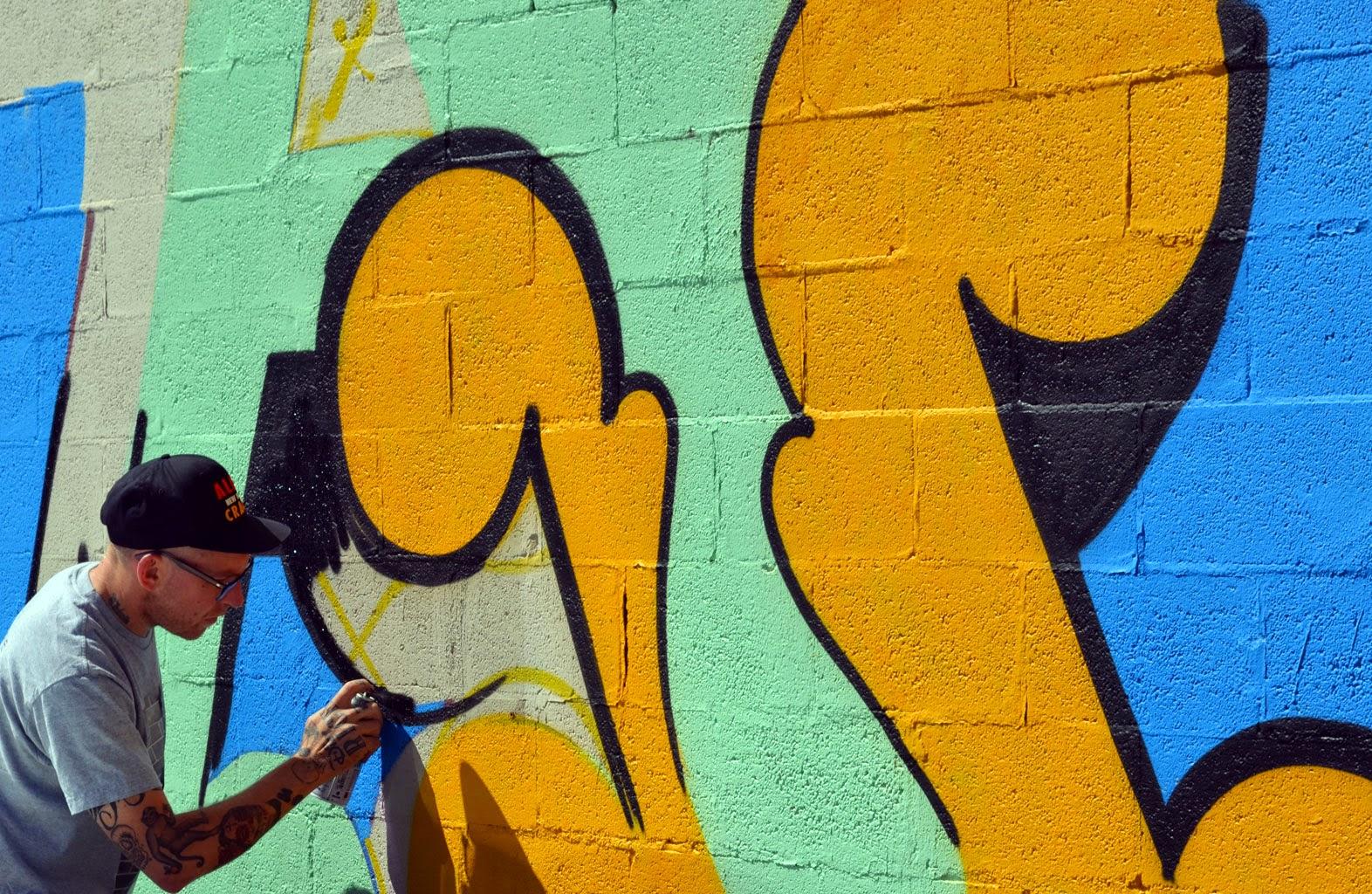 Ben Eine New Mural - Denver, Colorado   StreetArtNews   StreetArtNews