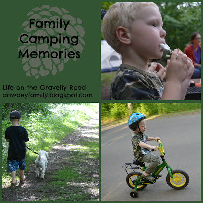 Camping s'mores hiking bike rides