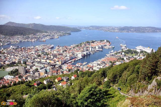 Bergen - funiculaire Floibanen pour découvrir le Mont Floien