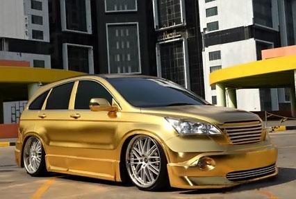 Contoh Gambar Modifikasi Keren Dan Elegant Mobil Honda CRV