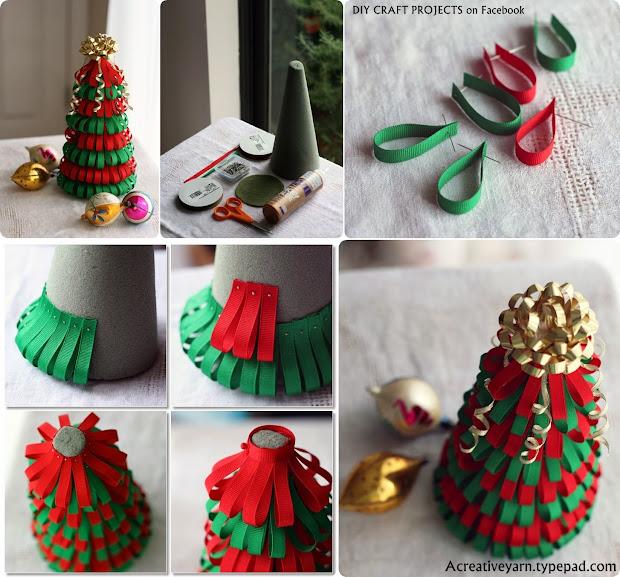 DIY Ribbon Christmas Tree Craft