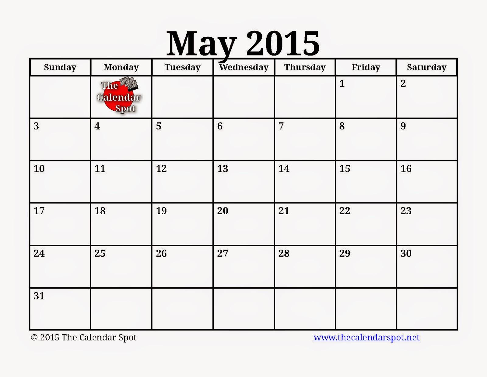 Calendar May Printable : Free printable calendar may