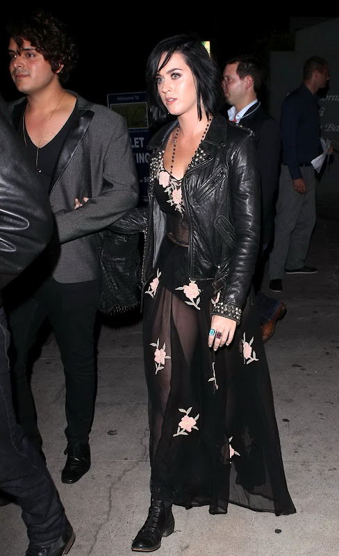 Singer Katy Perry was spotted leaving a birthday party held at Shore Bar in Santa Monica