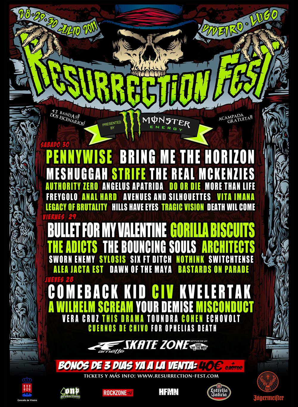 Resurrection Fest 2011 Cartel3